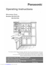 PANASONIC NN-S431BL OPERATING INSTRUCTIONS MANUAL Pdf Download