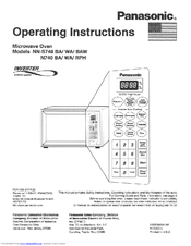 Panasonic Nn S740baw Quick Setup Manual 36 Pages Full Size Inverter Microwave Oven