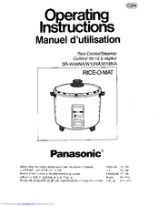 Panasonic NSRW10NA Operating Manual