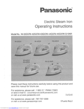 Panasonic NI-45GX Operating Instructions Manual