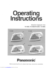 Panasonic NI436E - IRON-LOW Operating Instructions Manual