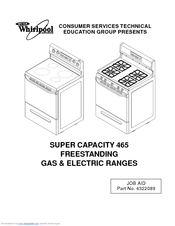 whirlpool 465 user manual pdf download rh manualslib com Element for Whirlpool Super Capacity 465 Oven Whirlpool Self-Cleaning Oven