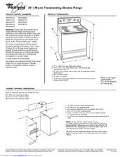 whirlpool gold gfe461lv manuals rh manualslib com GFE461LVS Whirlpool Range 40 Inch Electric Range Whirlpool
