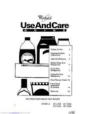 Whirlpool 6ET18DK Use And Care Manual