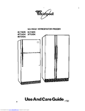 Whirlpool 3ET18DK Use And Care Manual