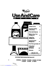 Whirlpool ET20DM Use And Care Manual