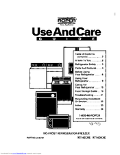 Whirlpool RT14ECRE Use And Care Manual