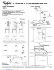 Whirlpool GZ9736XSS Specification Sheet