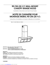 Whirlpool W10029770A Installation Instructions And Use And Care Manual