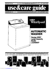 Whirlpool LA3400XP Use & Care Manual