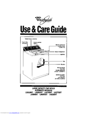 Whirlpool LA63OOXT Use & Care Manual