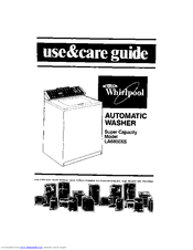 Whirlpool LA6800XS Use & Care Manual