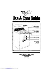 Whirlpool LA9500XT Use And Care Manual
