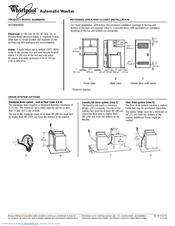 whirlpool wtw6200vw cabrio washer manuals rh manualslib com whirlpool cabrio washer manual top load Whirlpool Cabrio Washer Owner's Manual