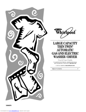 Whirlpool THIN TWIN LTG6234D Use & Care Manual