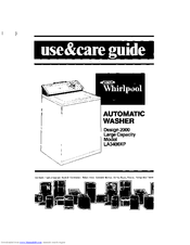 Whirlpool LA3400XP Use And Care Manual