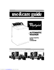 Whirlpool LA5000XM Use And Care Manual