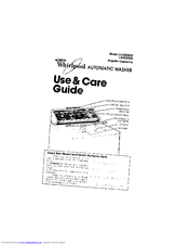 Whirlpool LA5535XK Use And Care Manual