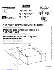 Whirlpool Washer/Dryer Pedestal Installation Instructions Manual