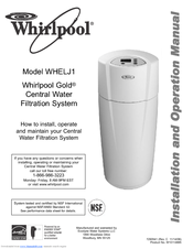 Whirlpool Whelj1 Installation And Operation Manual 27 Pages Central Water Filtration System