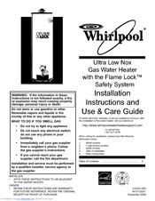 Whirlpool Sg1j5040t3nov 7k Manuals