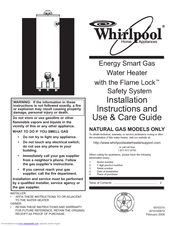 Whirlpool 89263 Installation Instructions And Use And Care Manual