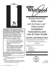 Whirlpool Sg1j4040t3nov 5k Manuals
