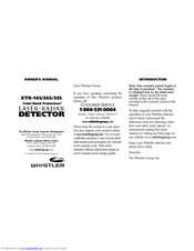 Whistler xtr-335 (xtr335) radar and laser detector with patented.