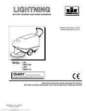 windsor lightning battery burnisher l20t manuals