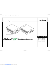 xantrex prowatt sw sw 1000 owner s manual pdf download rh manualslib com Xantrex Freedom 458 Xantrex Inverter Wiring Diagram