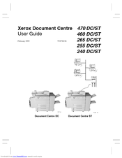 Xerox Document Centre 265 DC User Manual
