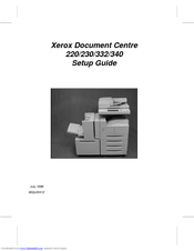 Xerox Document Centre 220 Setup Manual