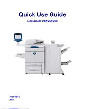 Xerox DocuColor 260 Quick Use Manual