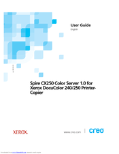 Xerox Spire CX250 User Manual