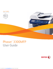 xerox phaser 3300mfp user manual pdf download rh manualslib com Xerox Phaser 3300MFP Fuser Xerox Copy Machines