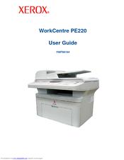 Xerox Workcentre Pe220 User Manual Pdf Download Manualslib