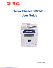 xerox phaser 3635mfp s user manual pdf download rh manualslib com xerox phaser 3635mfp manual phaser 3635mfp manuel