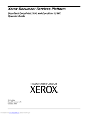 Xerox DocuPrint 75 MX Operator's Manual
