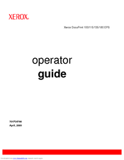Xerox DocuPrint 115 EPS Operator's Manual