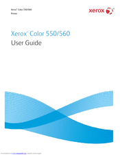 Xerox Color 550 User Manual