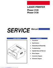 Xerox 3130 - Phaser B/W Laser Printer Service Manual