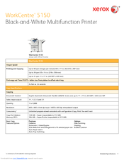 Xerox WORKCENTRE 5135 Specification