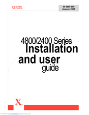Xerox 2400 Series Installation And User Manual