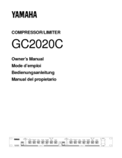 Yamaha GC2020C Owner's Manual