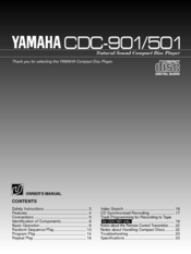 Yamaha CDC-901 Owner's Manual