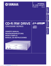 Yamaha CD Recordable/Rewritable Drive CRW3200NB Owner's Manual