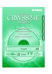 Yamaha CD Recordable/Rewritable Drive CRW8824E Owner's Manual