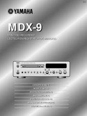 Yamaha MDX-9 Owner's Manual