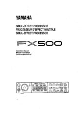 yamaha fx500 operation manual pdf download rh manualslib com