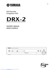 Yamaha DRX-2 Owner's Manual